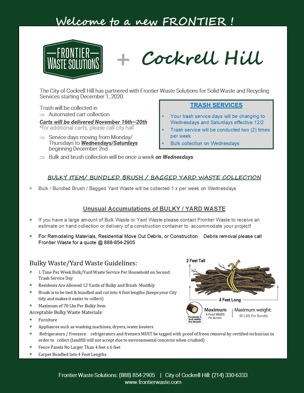 Cockrell Hill Trash Flyer