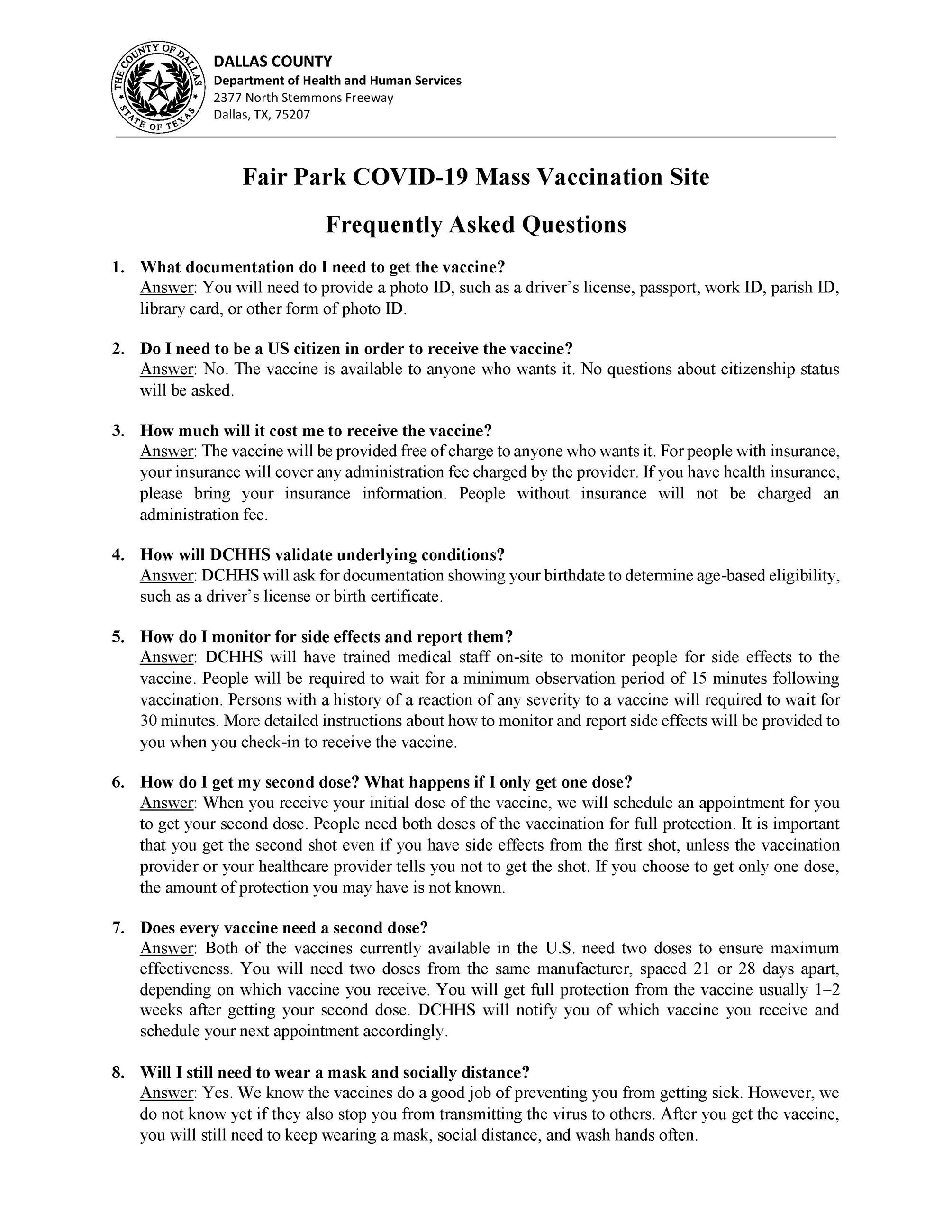 Fair Park Mass Vaccination FAQ Eng Span-1_Page_1